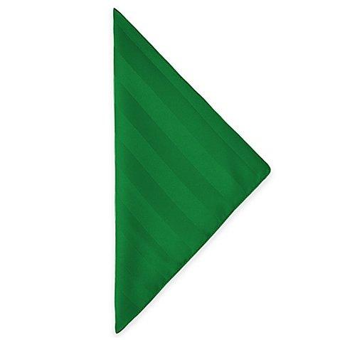Ultimate Textile Satin-Stripe 17 x 17-Inch Cloth Napkins -1 Dozen- Christmas Emerald ()