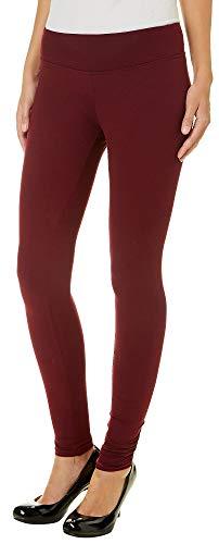 Hot Kiss Juniors Solid Leggings Medium Wine red for $<!--$7.18-->