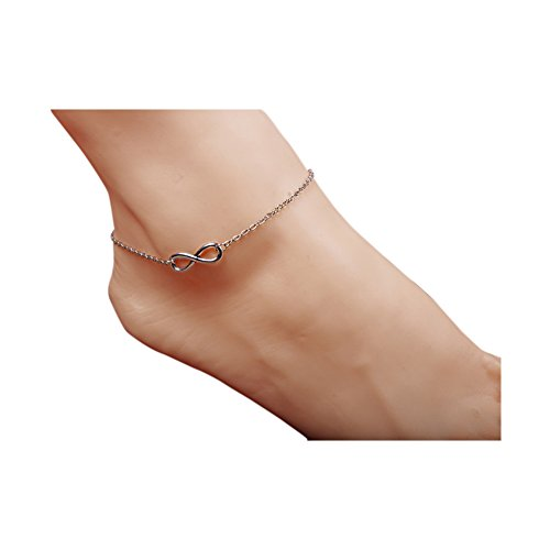 Boosic Infinity Charm Anklet Bracelet Foot Chain For Women Summer Sandal Jewelry