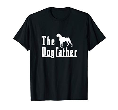 T-shirt Mens Dogs Boxer (Mens the dogfather - boxer dog t shirt christmas gift)