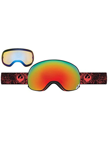 Dragon Unisex X2 Goggles Energy ScarletRed Ion and Yellow Blue Ion