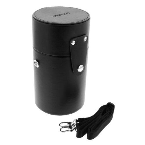"""Mennon LLC-SLR-90 Leather Lens Case 90x160mm (3 1/2"""" x 6 1/4"""") for Telephoto SLR Camera Lens"""