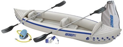 Sea Eagle SE370 Inflatable Kayak with Deluxe Package, Outdoor Stuffs