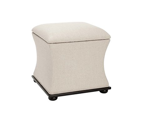 Cheap Safavieh Jonathan Cream Linen Upholstered Contemporary Storage Ottoman