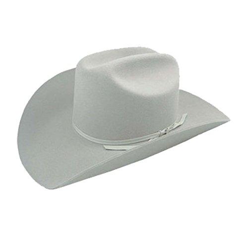 Stampede 2X quality wool felt white hat ()