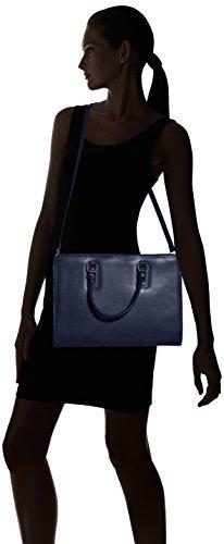 Made pour cuir italien Bleu in avec des Blu femmes 100 poignées Italy les Sacoche véritable modèle PnqwFTdPx