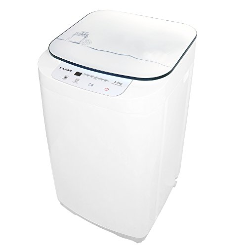 (kapas kps35-735h2 upgraded compact washing machine, fully automatic 2-in-1 washer and spin dryer machine build-in pump and long hose, 8 lbs. capacity 8 lbs. top load tub washer)