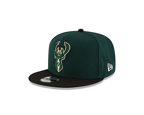 New Era NBA Milwaukee Bucks Boys 9Fifty 2Tone Snapback Cap, One Size, Dark Green]()