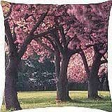 Pink cherry blossoms - Throw Pillow Cover Case (18