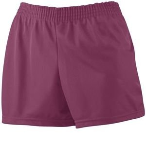 Augusta Sportswear Ladies Trim Fit Mini Mesh Short 982