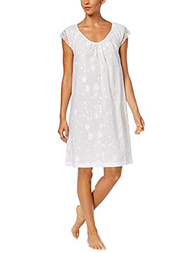 Nightgown Club Charter Cotton (Charter Club Lace Floral Cotton Nightgown. Size: XSmall. Color White.)