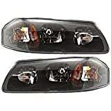 Evan-Fischer EVA13572054840 Headlight Set of 2 Composite Clear Lens Halogen With Bulb(s) Replaces Partslink# GM2503201, GM2502201 for Chevrolet Impala