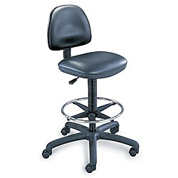 Safco Products 3406BL Precision Vinyl Extended Height Chair with Footring (Additional options sold separately), (Safco Precision Drafting Table)