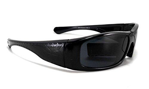 Modo Hardcore Gangsta Black Biker Shades Sunglasses 5448