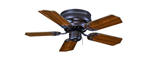 Royal Pacific Lighting 1064OB Traditional Royal Knight Hugger III 1063OB 5 Blade Transitional Ceiling Fan, 30', Oil Rubbed Bronze