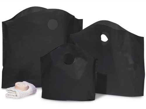 BLACK 100% Recycled Wave Top ASST25 Small, 50 Med, 25 Tall & 25 Larg 1 unit, 125 pack per unit.