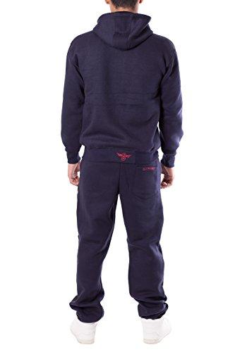 Zip Jogging Sweat Masculine Survêtement Pièces Ensemble Noroze À De 2 Marine Fittness Sports Engrener Bas Capuche 1U8AwxnwH