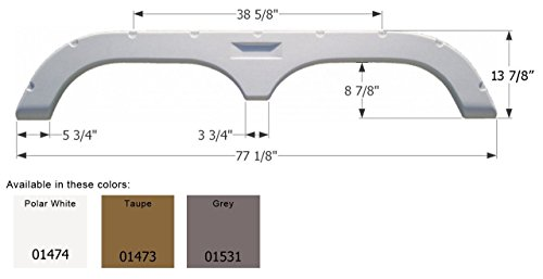 Fleetwood 5th Wheel Travel Trailer Fender Skirt FS720 - Grey (Best 5th Wheel Travel Trailers)