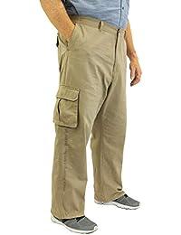 Big & Tall Men's 100% Cotton Casual Cargo Pants