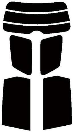 株式会社セブン 極厚 2層構造ハードコートフィルム スバル エクシーガ YA4・YA5リヤーセット カット済みカーフィルム スモーク