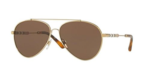 Burberry Women's 0BE3092Q Light Gold/Brown One Size from BURBERRY