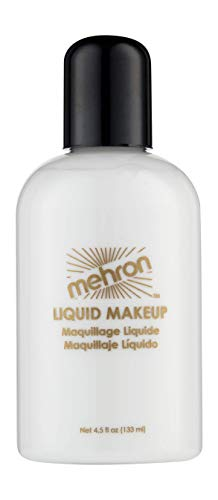 Mehron Makeup Liquid Face & Body Paint, WHITE - 4.5oz -
