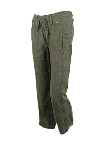 INC International Concepts Women's Wide-Leg Linen Pants (2P, Grey Knight)