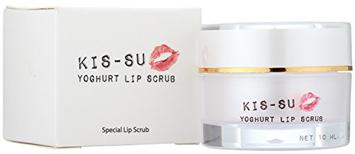 Yoghurt Sugar Lip Balm Scrub Exfoliator Extract Yogurt for dry lip - the Balm treatment with Sugar scruber + Hydrolysed Collagen and Vitamin C ( 0.35oz) by Juicy Skin Care