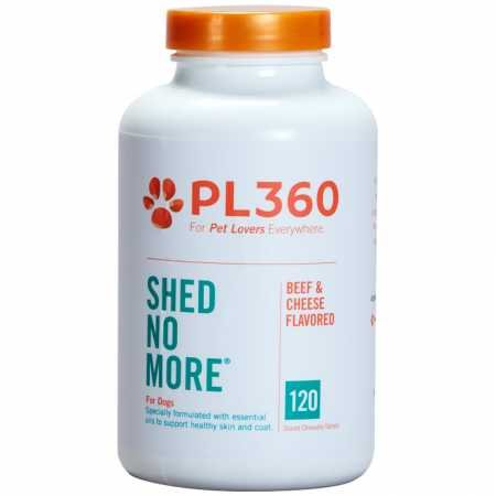 PL360 Shed No More Chewable Supplement for Dogs, 120 Count (Dogs Scored Chewable Tablets)