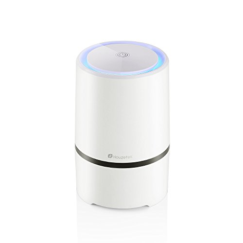 Houzetek Air Purifier with True HEPA Filter, Anion Sterilization Air Purifier with HEPA Filter, Air Ionizer, Air Cleaner with True HEPA Homes Purifier Reduces Cigarette Smoke, Odor Smell, Pet Smell, with Night Mode and 100% Ozone Free