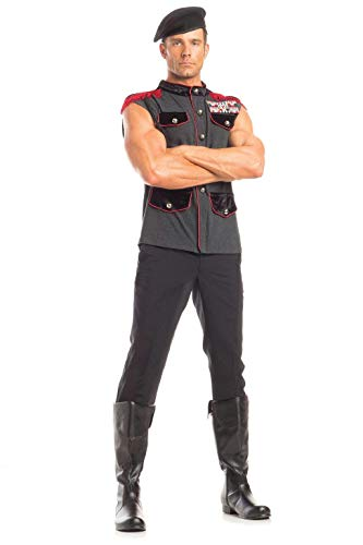 BeWicked Men's 2 Piece Outstanding Officer Costumes, Black/Grey/Red, M/L]()