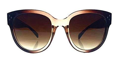 AStyles Womens Large Oversized Fashion Horn Rimmed Audrey Sunglasses ()