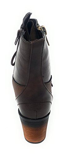 Heel Vintage Lace Ravenna Pierre Ankle Dumas up Distressed Stacked Brown Boot 05 Women's Hxq0wqvE