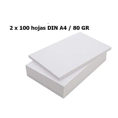 Paquete folios 100 hojas blanca DIN A4/ 80GR papel fotocopiadora impreso