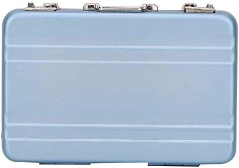 Aelooa 1のためのシミュレーションミニチュアメタル家具スーツケース:6ドールハウスアクセサリー(ブルー)