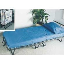 roll away folding guest bed cot with deluxe mattress