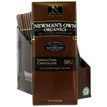 Newmans Own Organics 54 Percent Espresso Dark Chocolate, 3.25 Ounce - 12 per case.