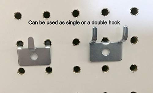 (250 PACK) Picture Notch Utility 'J' Peg Hook. For 1/8 to 1/4'' Pegboard w/Screws by STRIKE (Image #3)