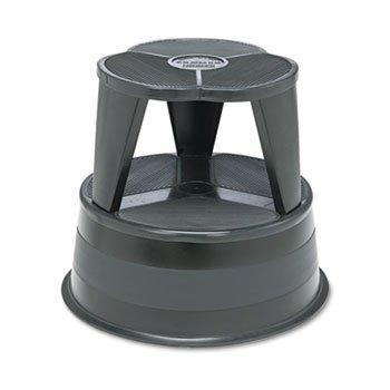 Kik-Step Steel Step Stool, 350 Lb Cap, 16'' Dia. X 14 1/4h, Black
