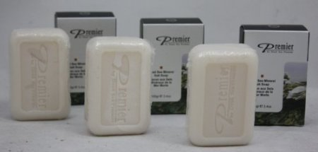 Premier Dead Sea Mineral Salt Soap (Pack of 3)