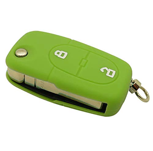 forkey 790012V Aud204s Key Case with 2 Buttons Green