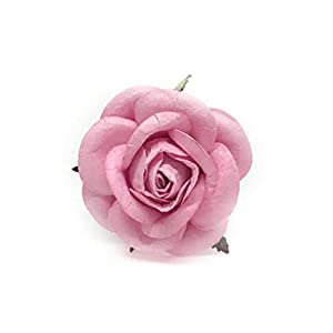 "2"" Pink Paper Flowers Paper Rose Artificial Flowers Fake Flowers Artificial Roses Paper Craft Flowers Paper Rose Flower Mulberry Paper Flowers 10 Pieces 21"