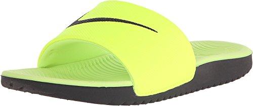 Boys Nike Kawa (GS) Slide (5 Big Kid M, Volt/Black) (Slide Sandals Boys compare prices)
