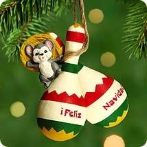 e085ee84c85a0 Image Unavailable. Image not available for. Color  feliz navidad QX8214  2000 Hallmark Keepsake Ornament