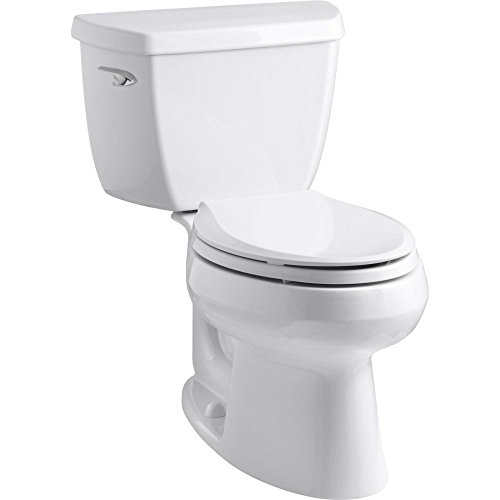 Kohler K-3575-7 Wellworth Classic 1.28 gpf Elongated Toilet with Class Five Flushing Technology and Left-Hand Trip Lever, Black Black ()