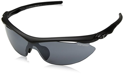 Tifosi Slip T-I046 Shield Sunglasses,Matte Black Frame/Smoke, All-condition Red & Clear Lens,One - Tifosi Sport Sunglasses