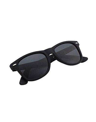 CGID Nerd Sonnenbrille Wayfarer Stil Retro Vintage Unisex Brille,Matte Schwarz