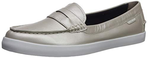 (Cole Haan Women's Nantucket Loafer, Argento Metallic Leather 8 B US)