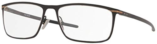 OX5138 Tie Bar Rectangular Titanium Eyeglass Frames, Satin Black/Demo Lens, 53 mm
