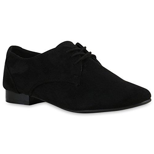 Stiefelparadies - Zapatos Derby Mujer negro